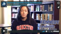 Kennedy Leverett Ready for Princeton